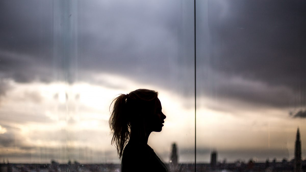 silhouette woman photography