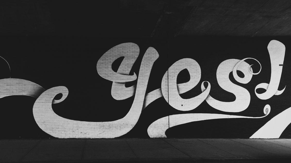 yes! graffiti wall